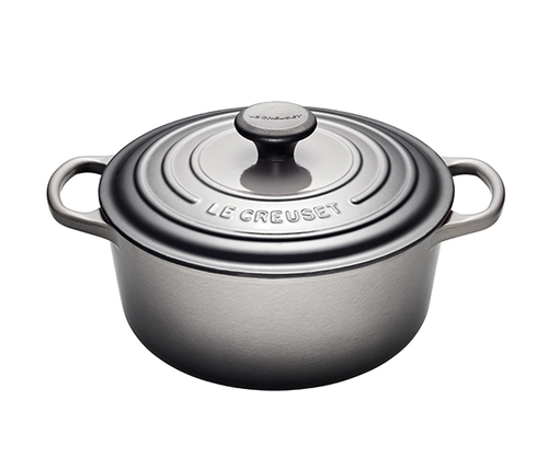 Le Creuset - 5.3 L (5.5 QT) Oyster French Round Dutch Oven