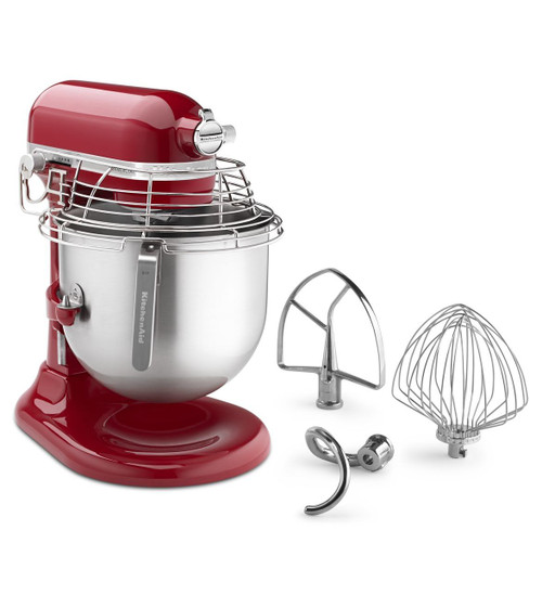 KitchenAid - Empire Red 8QT Commercial Series Bowl-Lift Stand Mixer- KSMC895ER