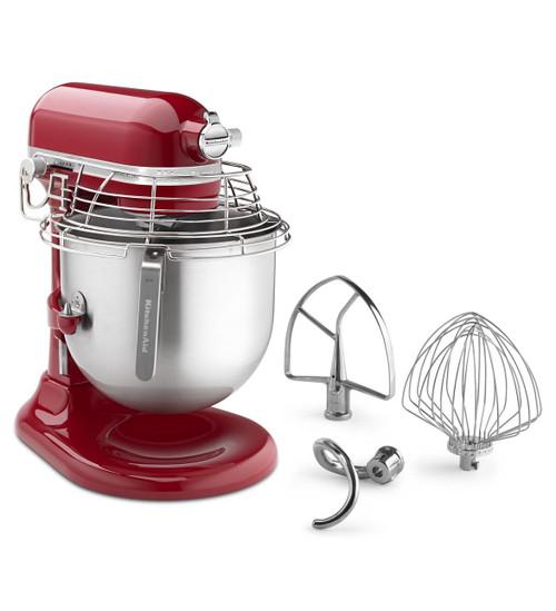 KitchenAid - Empire Red 8QT Commercial Series Bowl-Lift Stand Mixer- KSMC895ER