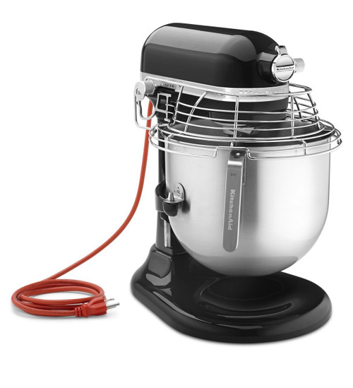 KitchenAid - Onyx Black 8QT Commercial Series Bowl-Lift Stand Mixer - KSMC895OB