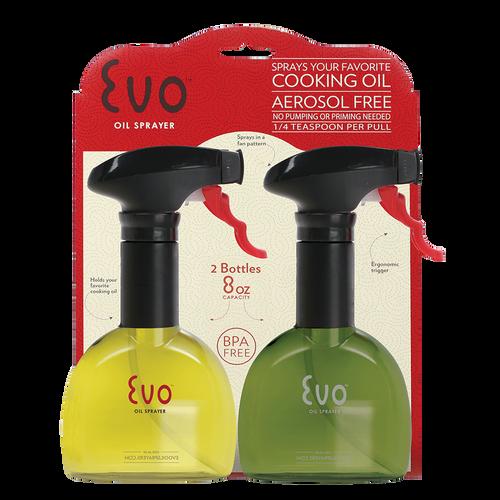 Evo Oil Sprayers - Pack of 2 8oz Oil Spray Bottles - EVO2PK8