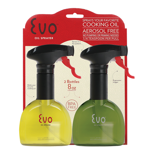 Evo Oil Sprayers - Pack of 2 8oz Oil Spray Bottles - EVO2PK8