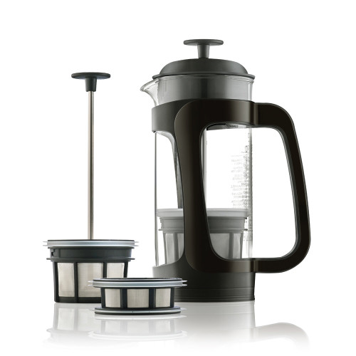 Espro - P3 Glass & Black Plastic Coffee Press (18oz) - 1418CBK