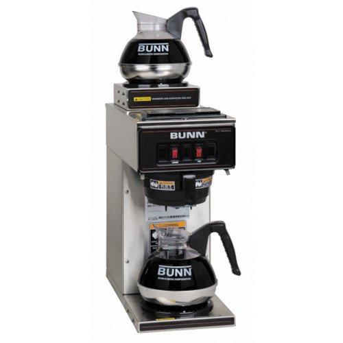 Bunn - 12 Cup Pourover Coffee Brewer with 2 Warmers - VP172