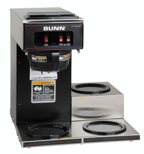 Bunn - 12 Cup Pourover Coffee Brewer w/ 3 Lower Warmers - VP173
