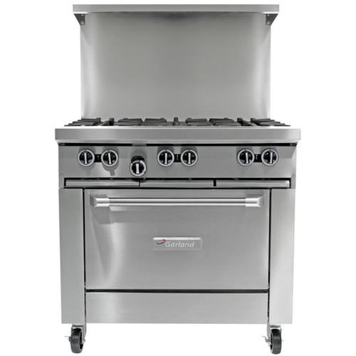 "Garland - G-Series 36"" Six Burner Gas Restaurant Range w/ 26"" Oven - G366R"