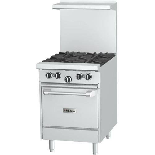 "Garland - U-Series 24"" Four Burner Gas Restaurant Range w/ 26"" Oven - U244L"