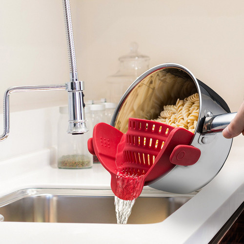 Kitchen Gizmo - SNAP'N STRAIN Strainer Red - KGSS2RED