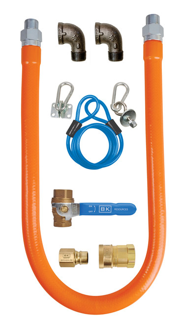 "BK Resources - 3/4"" x 48"" Gas Hose Connector Kit - BKGGHC7548"