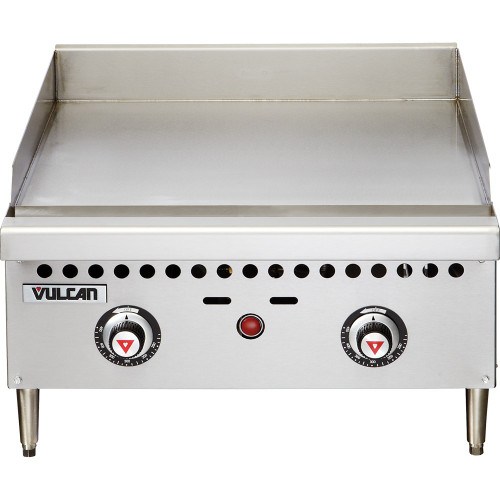 "Vulcan - 24"" Two Burner Thermostatic Gas Griddle, 50,000 BTU - VCRG24-T"