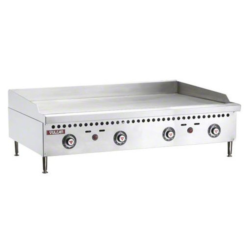 "Vulcan - 48"" Four Burner Thermostatic Gas Griddle, 100,000 BTU - VCRG48-T"