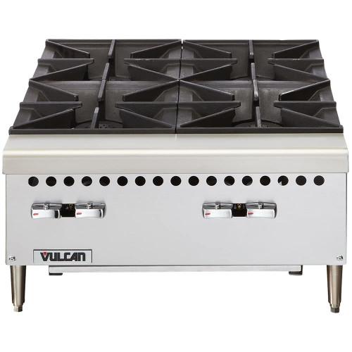 """Vulcan - 24"""" Four Burner Gas Hot Plate, 100,000 BTU- VCRH24"""