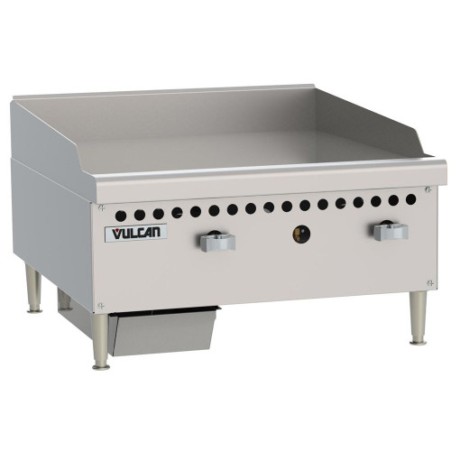 "Vulcan - 24"" Restaurant Series Two Burner Gas Griddle, 50,000 BTU - VCRG24-M"