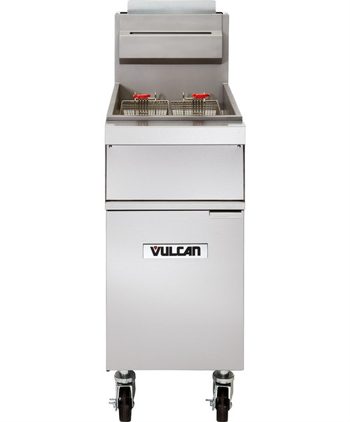 Vulcan - Freestanding Kitchen Fryer, 35-40lb Capacity - 1GR35M