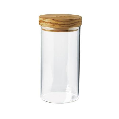 Bérard France - .4L ( 13.5oz) Borosilicate Glass Jar w/ Olivewood Lid - 7435102