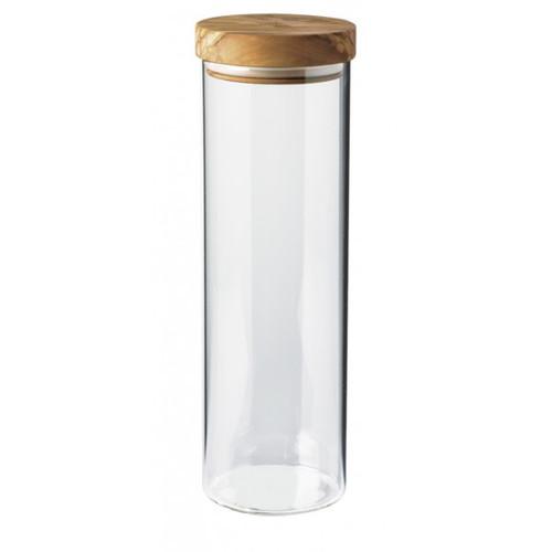 Bérard France - 1.5L (51oz) Borosilicate Glass Jar w/ Olivewood Lid - 7435103