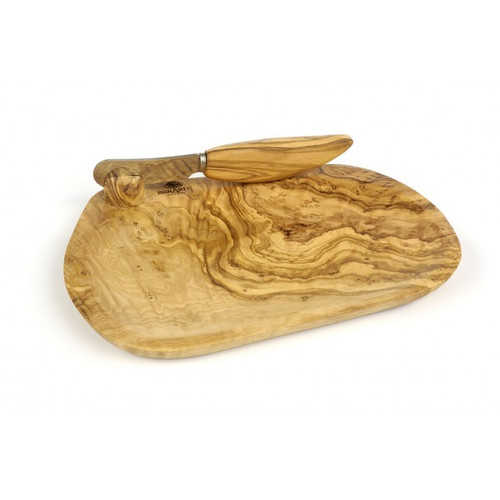Bérard France - Olivewood Butter Dish w/ Knife - 7412070