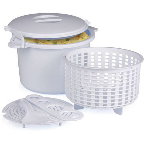 Progressive - Prep Solutions Microwave Rice & Pasta Cooker - GMRC500