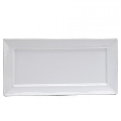 "Oneida - Bright White 13.25"" x 9.5"" Rectangular Platter - F801000373S"