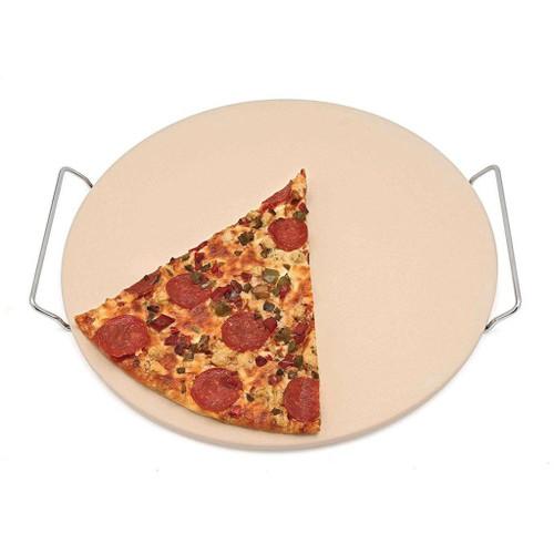 """Adamo - 15"""" Round Pizza Stone with Rack - 51154"""