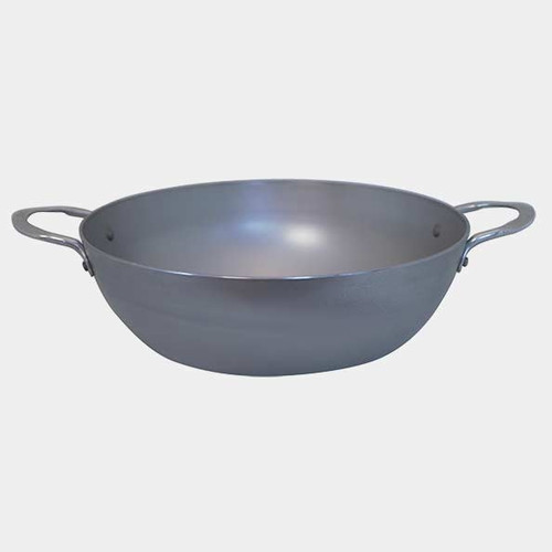 """de Buyer - Mineral B Element 12.5"""" (32cm) Double Handled Iron Country Fry Pan - 77565432"""