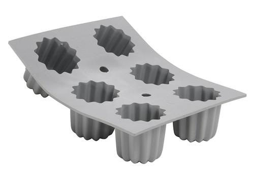 de Buyer - Elastomoule Silicone Canelé Mould, 6 Portion - 77183421D