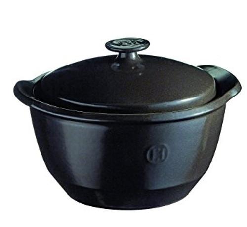 Emile Henry - Fusain 2L (2.1QT) One Pot Casserole (Faitout) - 91795575