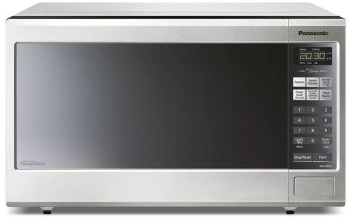 Panasonic - Family Size Genius Inverter Stainless Steel Microwave Oven - NNST681S
