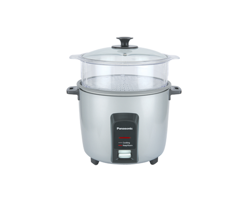 Panasonic - 1.8L (10 Cup) Automatic Rice Cooker with Steaming Basket - SRY18FGJ