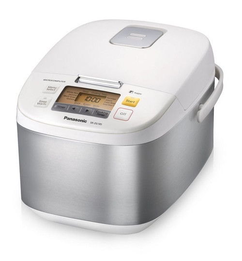 Panasonic - 1.8L (10 Cup) White Electric Rice Cooker with Diamond Coating - SRZG185