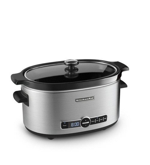 KitchenAid - 6QT Slow Cooker with Solid Glass Lid - KSC6223SS