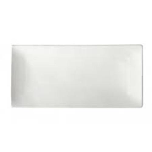 "Oneida - Buffalo Bright White 13"" x 6 1/4"" Sushi Platter - F8010000873"