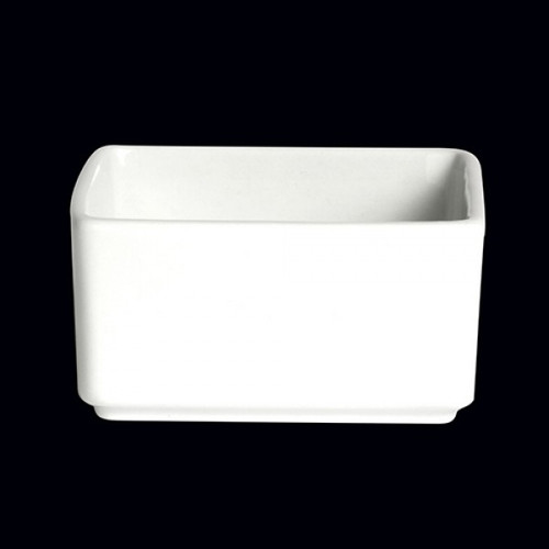 Steelite - Varick Cafe Porcelain 6 3/4 oz Square Ramekin - 6900E421