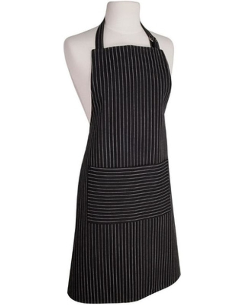 Now Designs - Black Pinstripe Full Bib Apron - 2500920