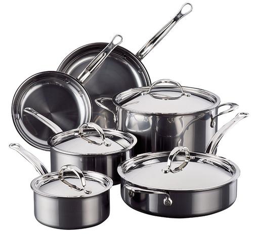 Hestan - Hestan Stainless Steel 10pc Cookware Set - 60034