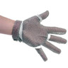 Omcan - Five Finger Stainless Steel Mesh Glove With White Silicone Strap  Small - 44352