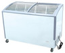 "Williams Food Equipment - 49"" Curved Glass Ice Cream Freezer - NIF-49-CG"