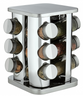 Trudeau - 12 Bottle Square Stainless Steel Spice Carousel