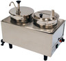 Benchmark - Dual Well Food Warmer - 1 Pump 1 Ladle & Lid 120v