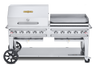 """Crown Verity - Pro Series 72"""" Liquid Propane Combo BBQ & Outdoor Griddle"""
