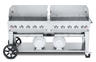 """Crown Verity - Club Series 72"""" Liquid Propane Mobile Outdoor Grill With Windguard"""