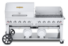"""Crown Verity - Club Series 72"""" Liquid Propane Combo BBQ & Outdoor Grill With Windguard"""