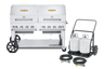 """Crown Verity - Club Series 60"""" Liquid Propane BBQ With 2 Roll Domes & Remote Propane Cart"""