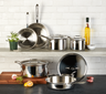 All-Clad - 10 Pc d5 Polished Stainless Cookware Set