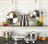 All-Clad - 15 Pc d5 Polished Stainless Cookware Set