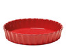 Emile Henry - Fusain (Pepper) Deep Flan Dish - 91796028