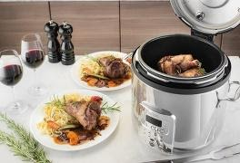 meat in rice cooker