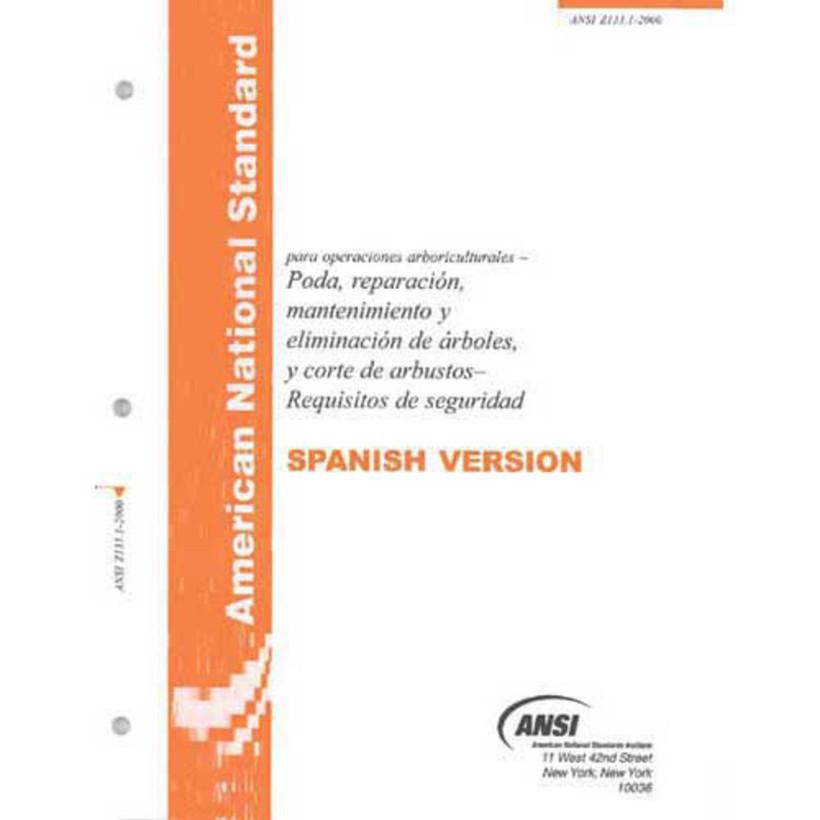 ANSI Z133.1 (2012) Safety Standard *Spanish*