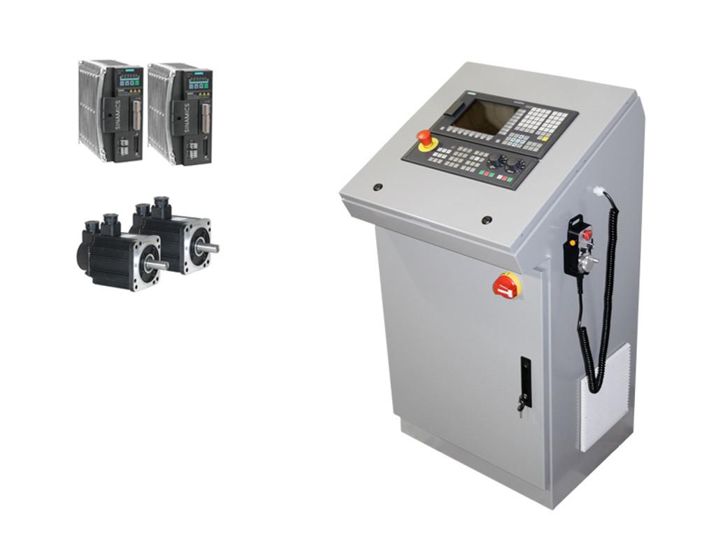 2-Axes Lathe CNC Retrofit Kit, Siemens 808D, Console Config