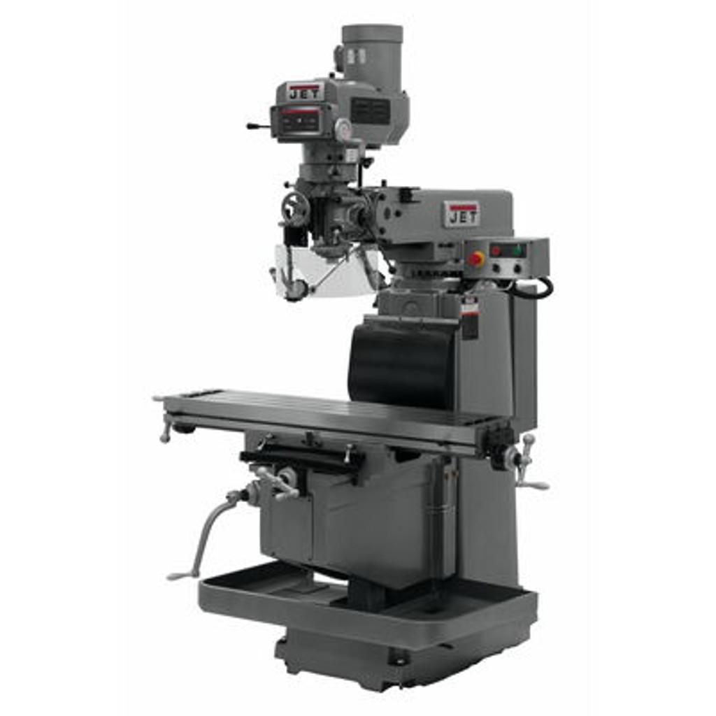 JET JTM-1254VS Mill With ACU-RITE 303 DRO X, Y & Z Powerfeeds & Air Power Drawbar #698151
